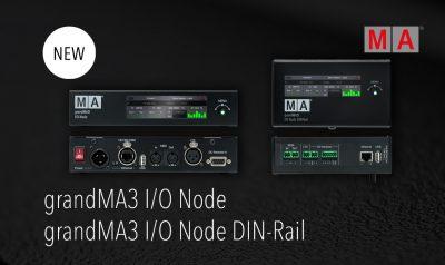 grandMA3 I/O Node & grandMA3 I/O DIN-Rail