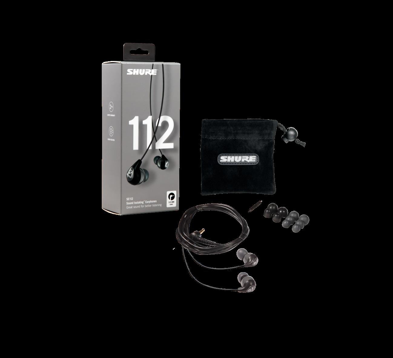 Shure SE-112-GR-EFS nappikuulokkeet